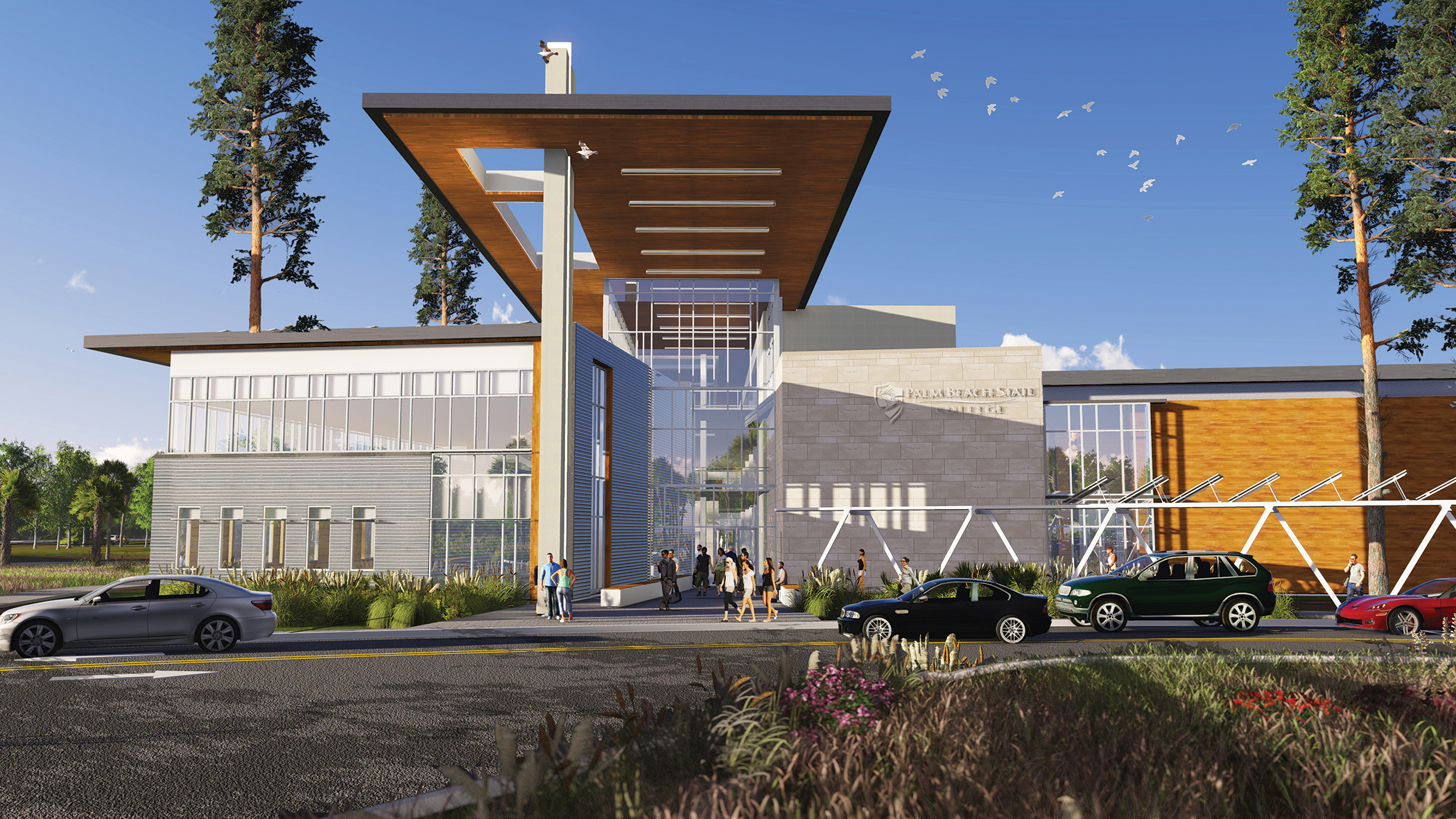 Artist's rendering of the Loxahatchee Groves campus. Designed by Zyscovich Architects, it is scheduled to open in 2016.