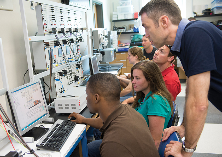 Professor Oleg Andric in Electrical Power Technology/Engineering Technology lab