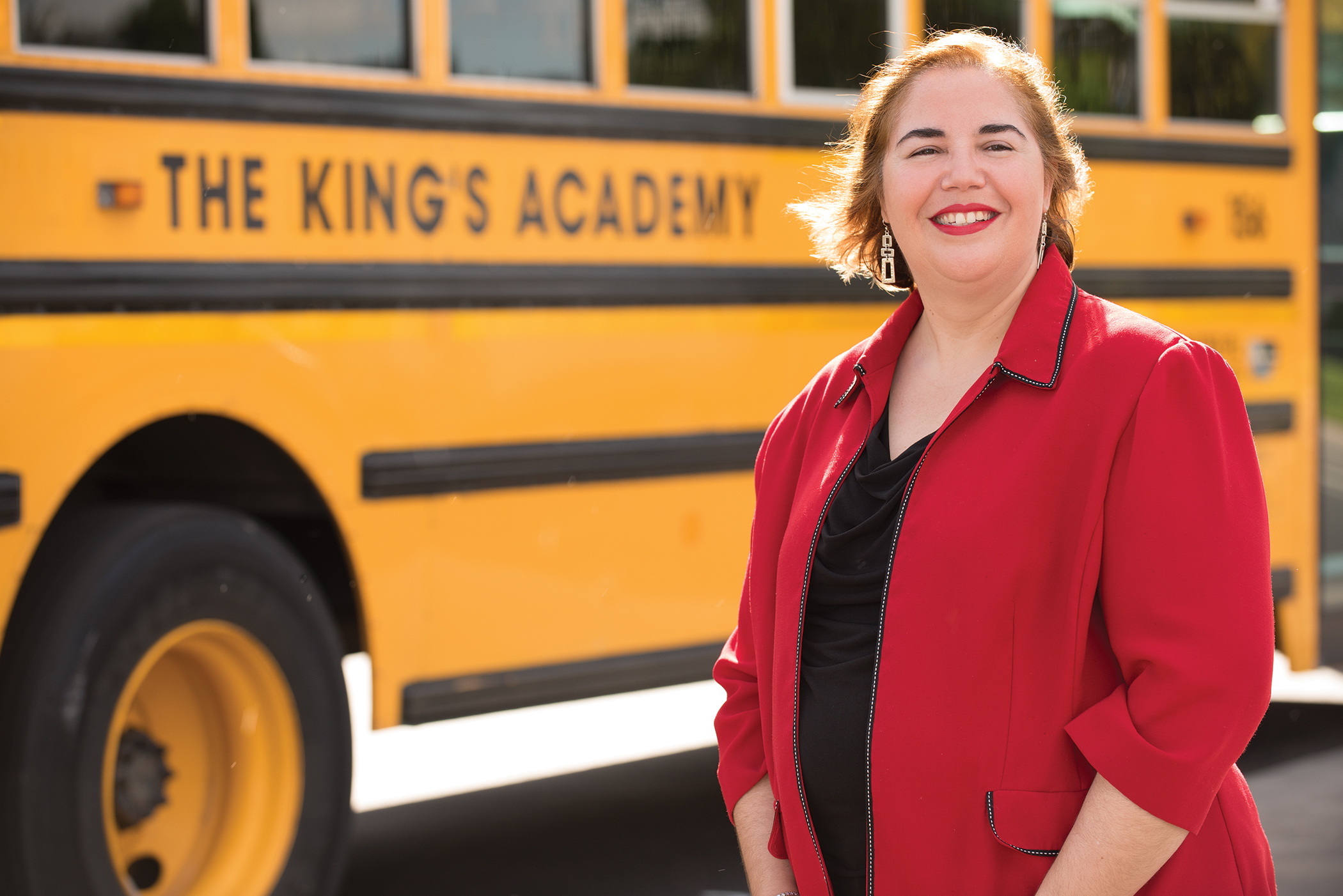 Former attorney Lizardo teaches English at The King's Academy.