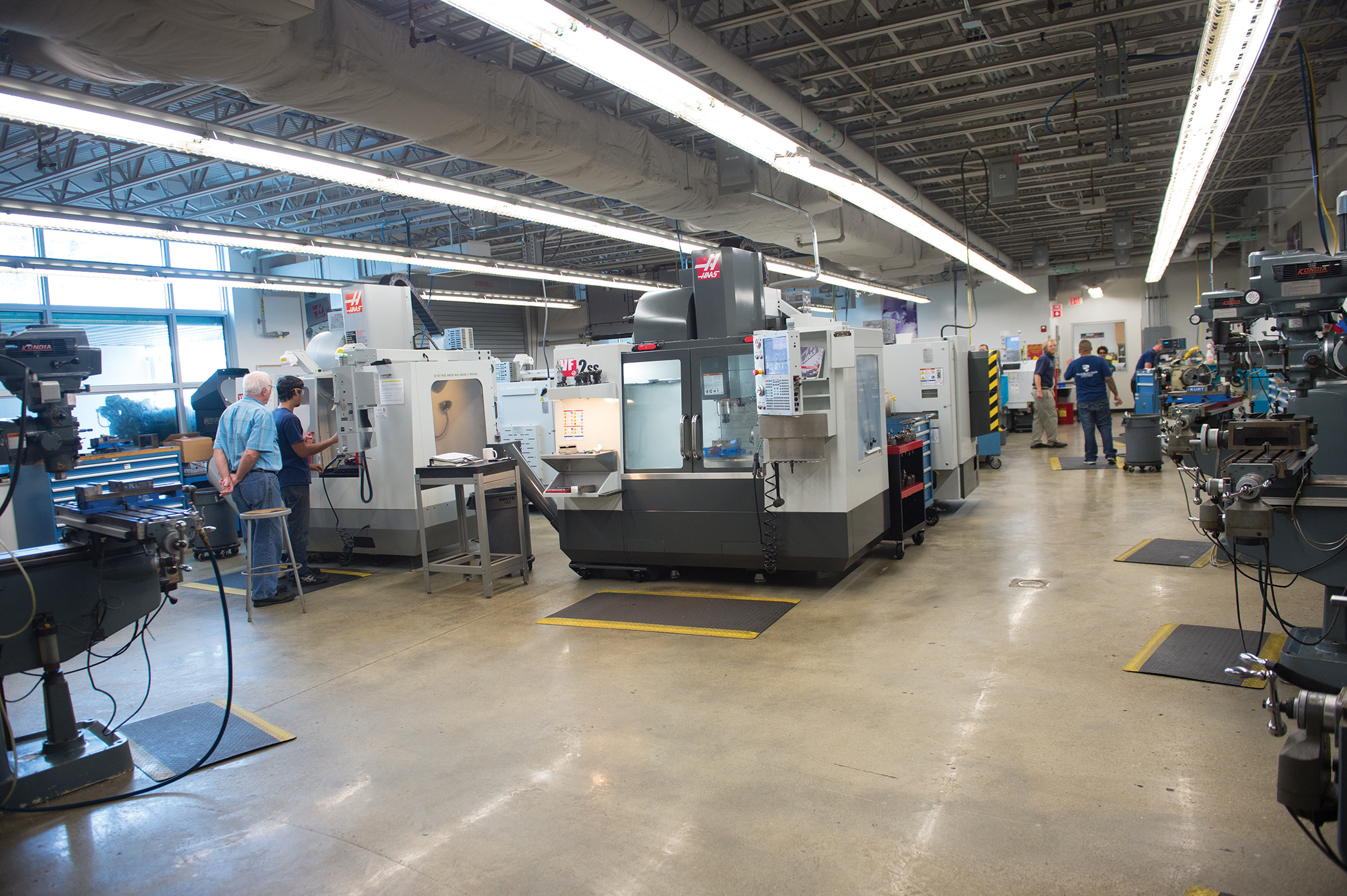 Machining lab in the Education & Training Center on the Lake Worth campus