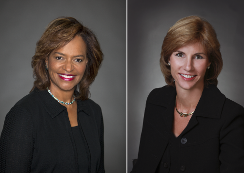President Ava L. Parker, J.D. (left) and Wendy S. Link, Chair, PBSC Board of Trustees