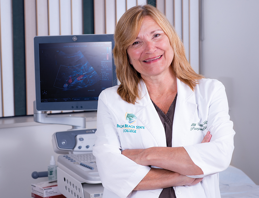 Professor Patty Braga, Sonography