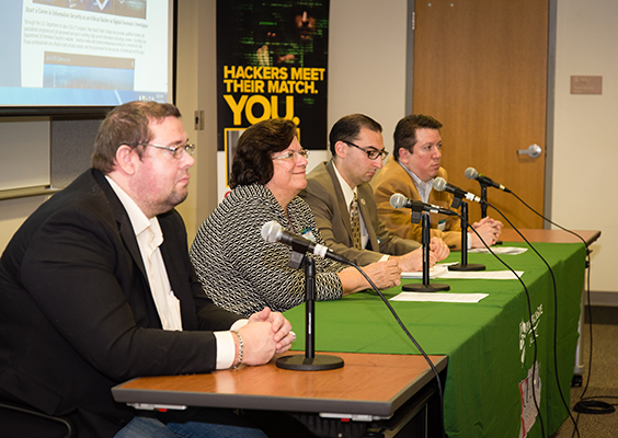 Guest Panelists at Cybersecurity Lab Grand Opening