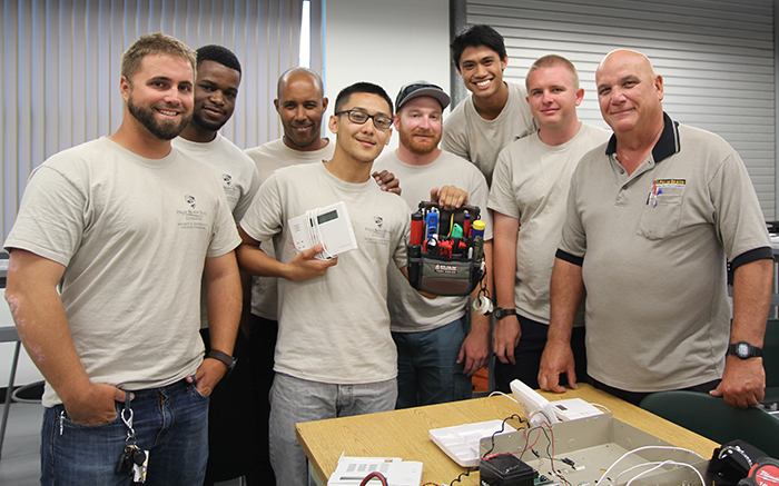 Security & Automation Systems Technician students and instructor