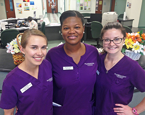 Dental Hygiene students at Mid-County Senior Center