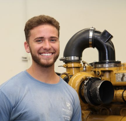 Christopher Juez, diesel student and scholarship winner