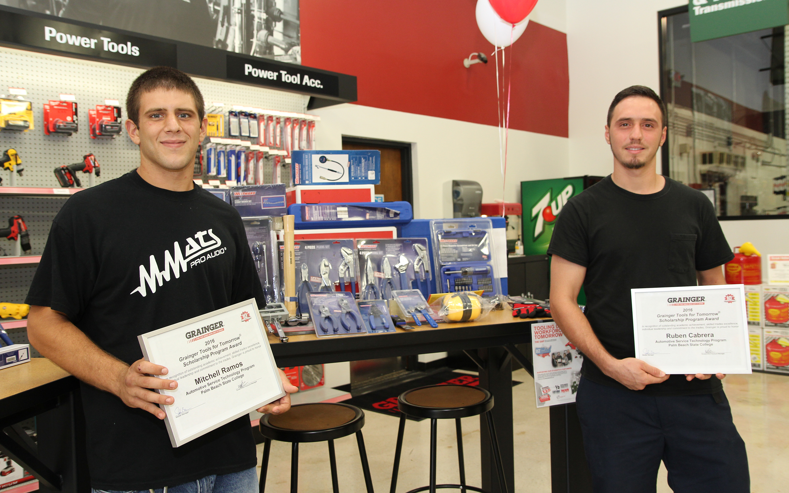 Mitchell Ramos and Ruben Cabrera, Grainger Tools for Tomorrow winners