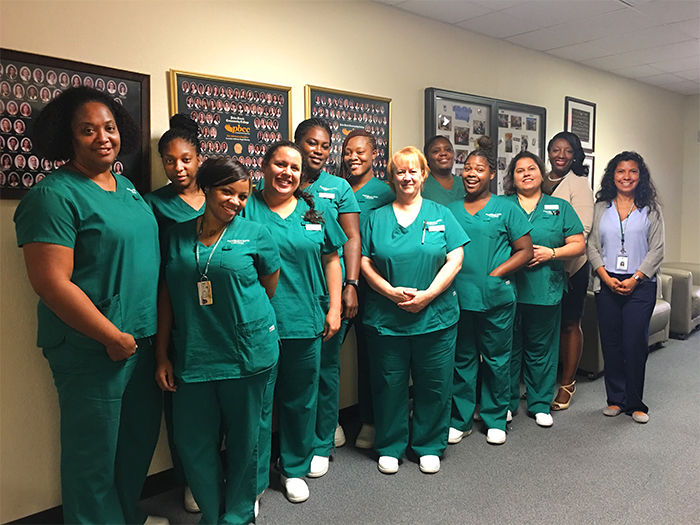 Certified Nursing Assistant class of displaced workers benefiting from CareerSource scholarship