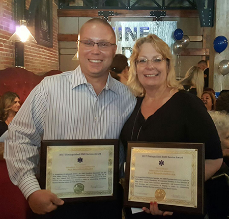 Will Barbre and Patti Drake win awards from the PBC EMS Providers Association