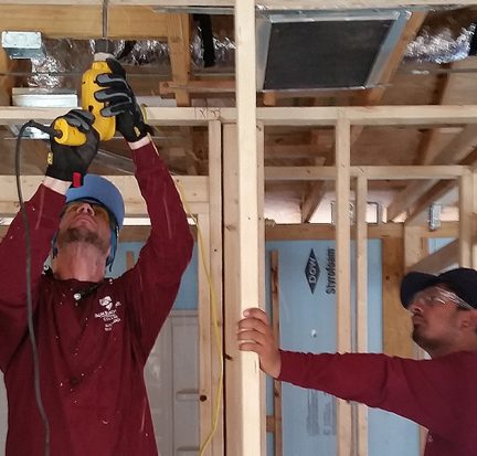 PBSC Electrician students wire a home for Habitat for Humanity of Palm Beach County