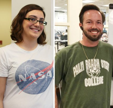 Lauren Ristaino and Vitas Diktanas, NASA Community College Aerospace Scholars