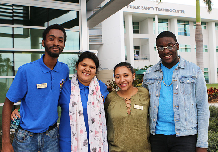 Students after human trafficking event
