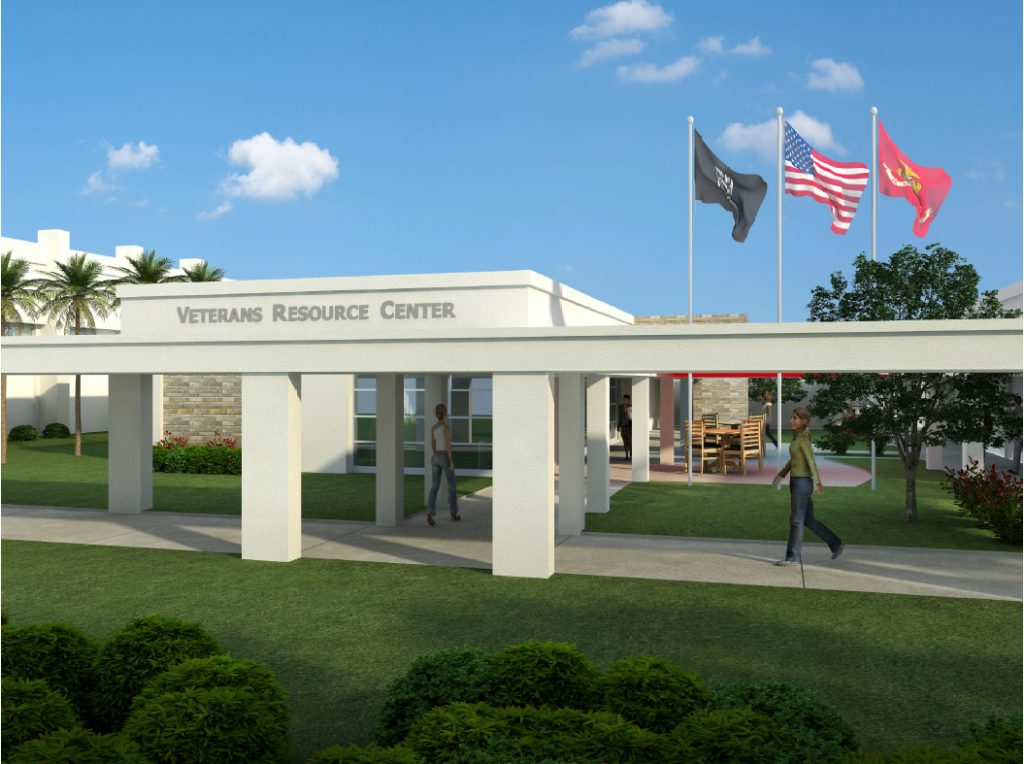 New Lake Worth campus veterans resource center rendering