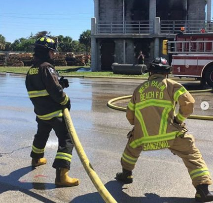 Chilean firefighters train at PBSC
