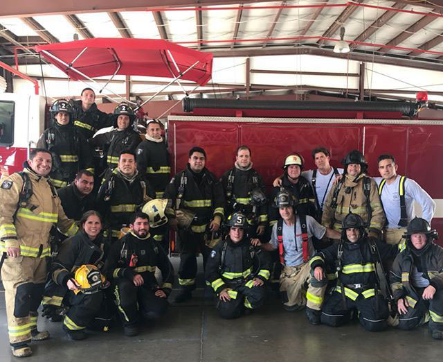 Chilean firefighters train at PBSC Fire Academy April 16-20.
