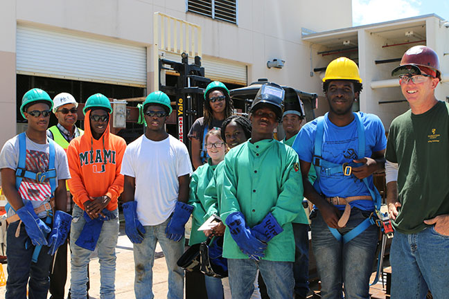 Belle Glade Dual Enrollment Welding Students