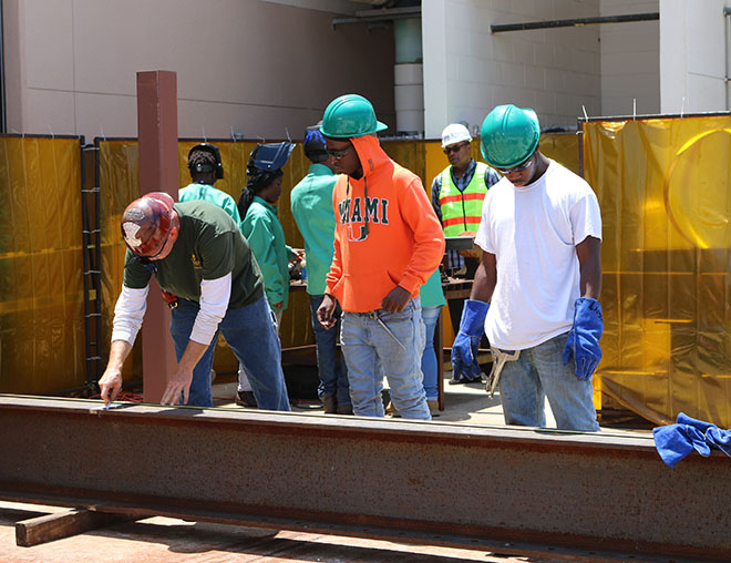Belle Glade Dual-Enrolled Welding Students