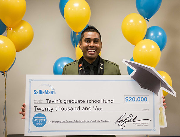 Tevin Ali, winner of Sallie Mae Scholarship