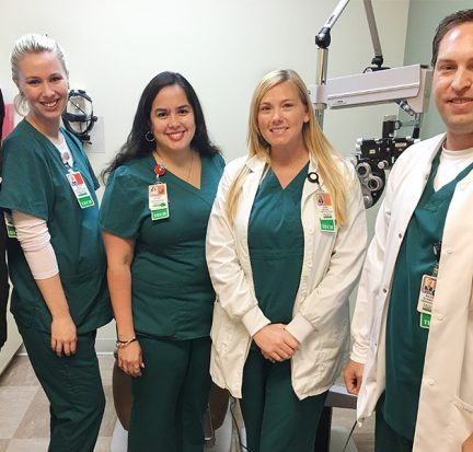 PBSC Ophthalmic Medical Technology Students at Bascom Palmer