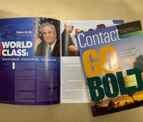 Award-winning Contact Magazine and article