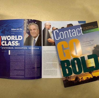 Award-winning Contact Magazine and article
