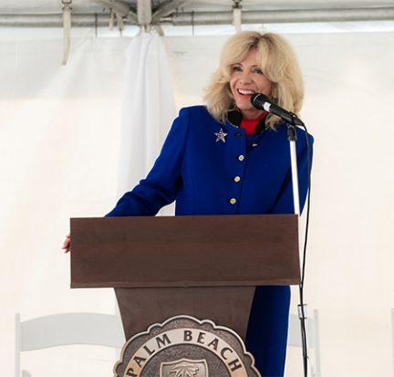 Maria Sachs at Grand Opening of Veterans Success Center