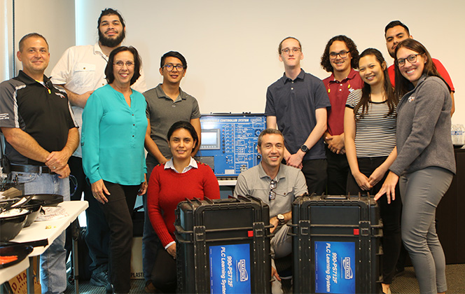PBSC students, faculty with Niagara equipment donation