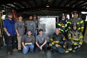 Welding-Firefighter programs collaborate on forcible entry door