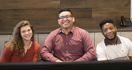 Three PBSC student interns at Dycom