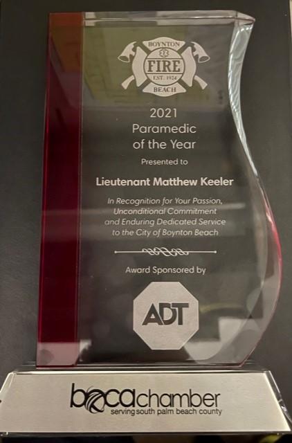 Lt. Matt Keeler, Medic of the Year